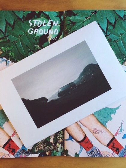 Featured in STOLEN GROUND ZINE
