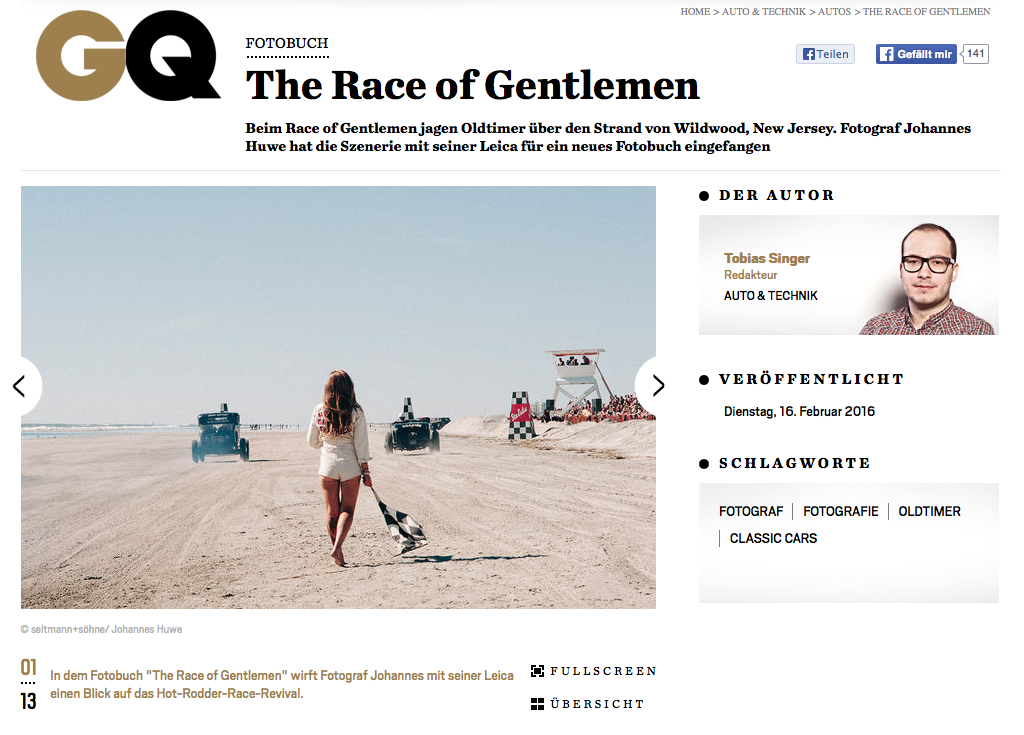 "My ""The Race of Gentlemen"" story today at GQ Magazine"