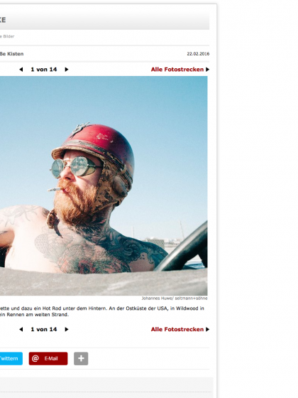 """The Race at Gentlemen"" story most viewed article yesterday at Spiegel Online"