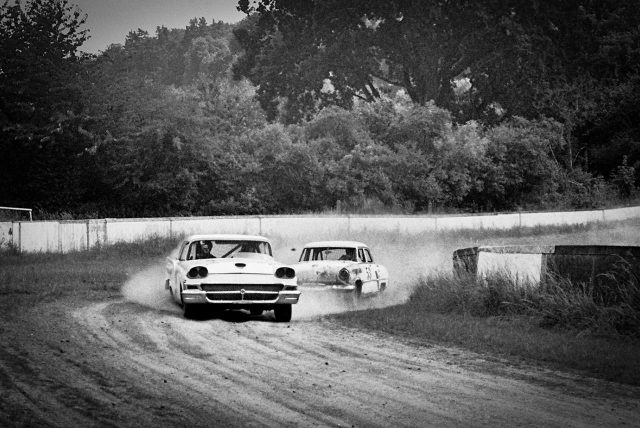 Rust n Dust dirt track race with Hot Rods and Motorcycles
