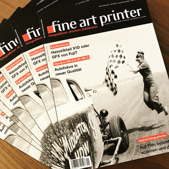 fine art printer magazine features my Pendine Sands racing story